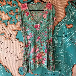 UFT ONLY - Babushka Play Dress in Turquoise